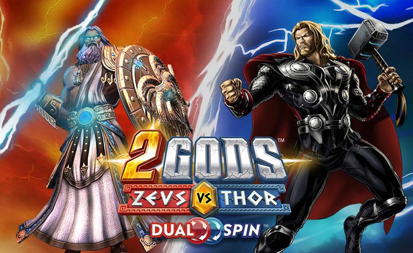 Релиз слота 2 Gods Zeus versus Thor от студии Yggdrasil с инновационной механикой Dual Spin