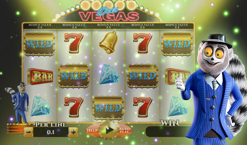 Подложка Lemur Does Vegas