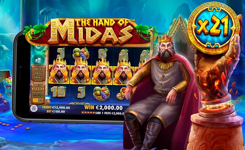 Гарантированный выигрыш до ×30 ставок в новом слоте The Hand of Midas
