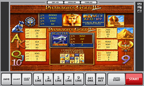 Скриншот 1 Pharaon's Gold