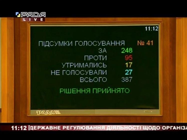 Рада проголосовала за легализацию азартного бизнеса в Украине